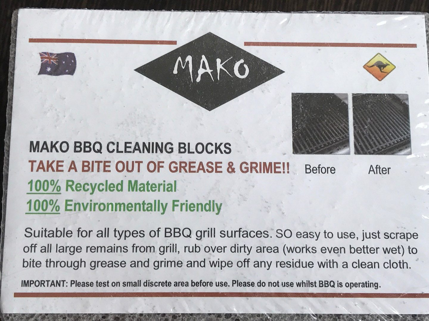 Mako BBQ Cleaning Block